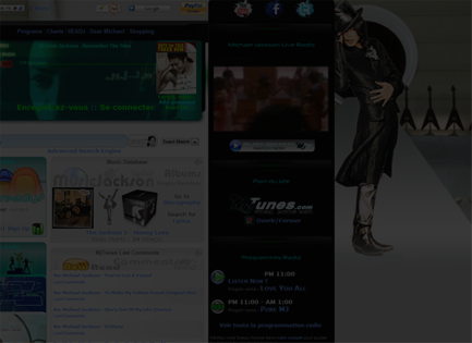 Michael Jackson Radio Website Homepage