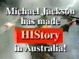 Australia HIStory Tour Commercial